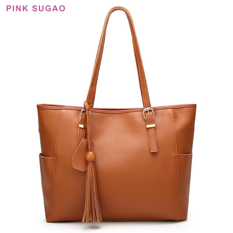 Rosa Sugao Handtaschenfrauen-Frauenschulterbeutel hochwertige Geldbörsen und Handtaschen Einkaufstasche groß