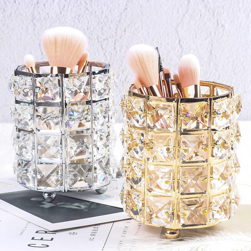 Make-up Bio-Metallaufbewahrungsbehälter European Style Augenbrauenstift Lippenstift Halter Make-up-Bürsten-Halter Cosmetic Organizer