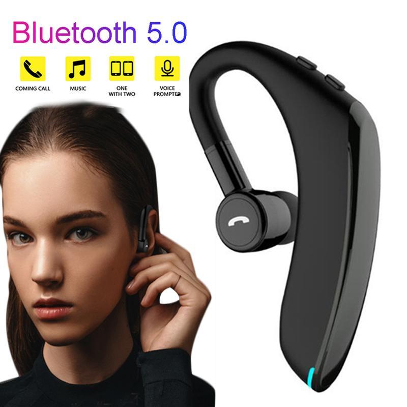 سماعة أذن مونو للأعمال اللاسلكية بلوتوث 5.0 للهواتف الذكية مع مايكروفون للسيارة لهواتف ايفون شاومي وسامسونج هواوي