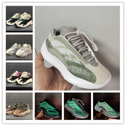 2020 Kids Reflective 700 Wave Runner Kanye West 700s V3 V2 Toddler Boys Gilrs Runing Shoes Toddler Designer Trainers Children Sneakers