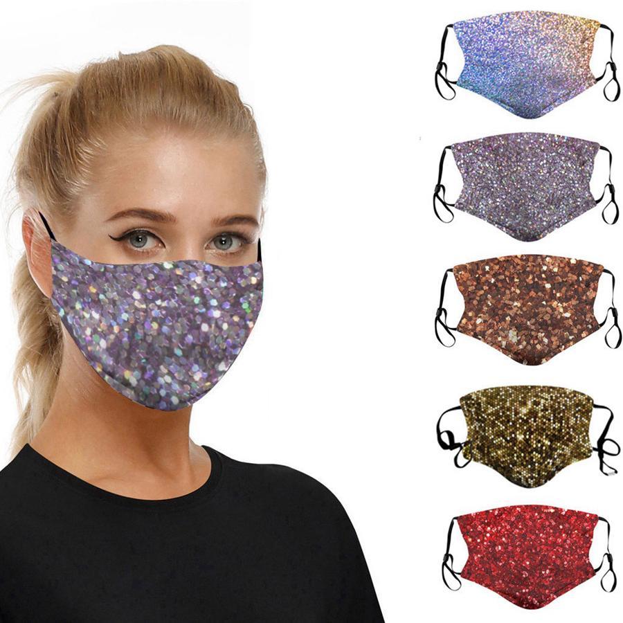 Yüz Yıkanabilir toz geçirmez Respiratörü Binme Bisiklet Sporları Erkekler Ve Kadınlar 6styles RRA3175 için Moda Maskeler yazdır Maske yazdır payet
