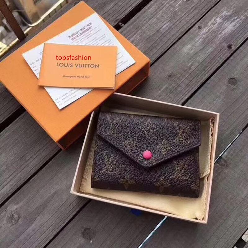 # 67544 5A caliente Marca Victorine carpeta de las mujeres Emilie botón corto carteras con moneda redonda Caja de tarjetas monedero de la bolsa M62360 M62472 M41938 N64022
