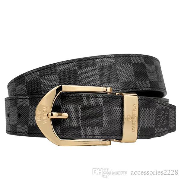 Top Großhandel Gold und Silber Verschluss für Männer und Frauen feine Verarbeitung Mode Jeans Accessoires 3.4cm mit lässigen Business-Stil Gürtel