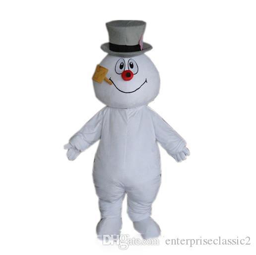 2019 высокое качество горячий морозный Снеговик костюм талисмана ходьба взрослых мультфильм одежда Бесплатная доставка