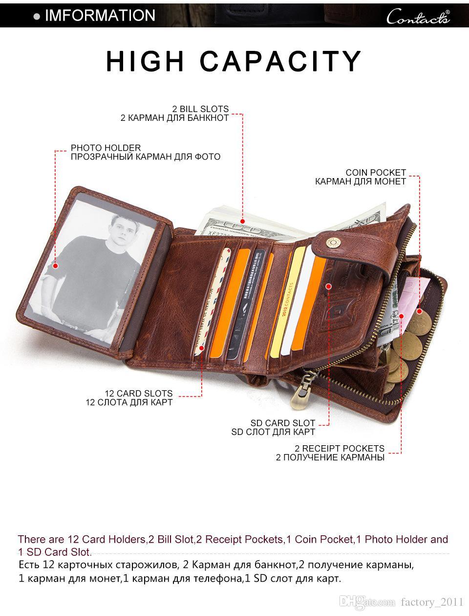 정품 가죽 RFID 남성 지갑 짧은 동전 지갑 작은 걸쇠 지갑 Partmon 남성 짧은 지갑 남성 고품질 Cuzdan 크리스마스 선물 M1280