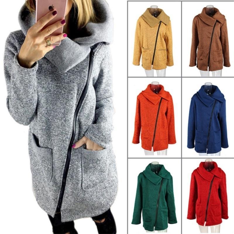 Bigsweety Plus Size 5XL Donna Autunno Inverno Abbigliamento caldo pile Giacca Slant Zipper colletto del cappotto signora Clothing Female Jacket V191029