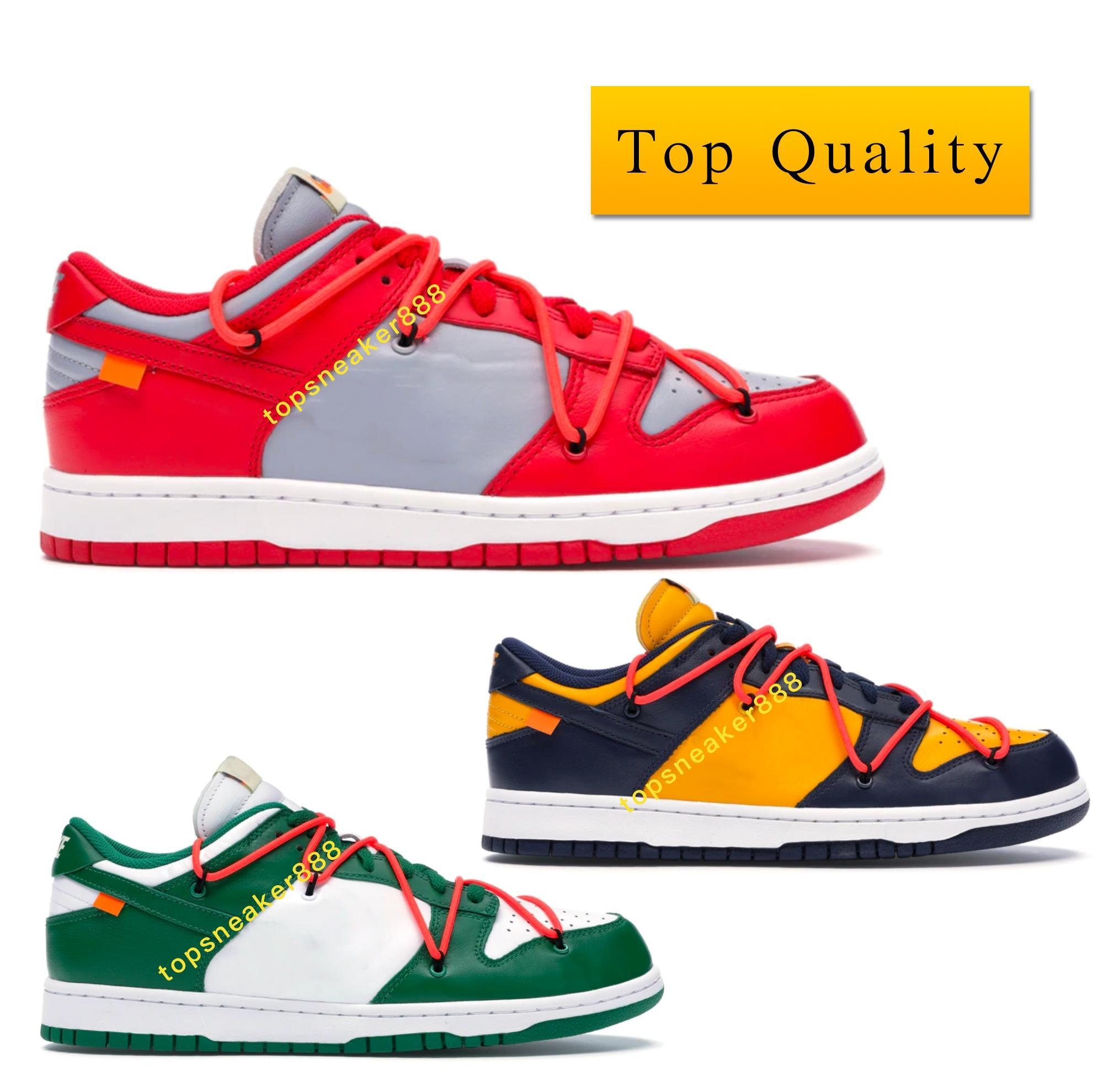 أعلى جودة دونك منخفض جامعة الرجل الأحمر إمرأة حذاء رياضة الصنوبر جامعة أخضر الذهب منتصف الليل البحرية مع صندوق الولايات المتحدة 5،5 حتي 12