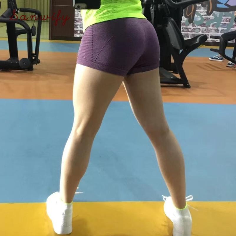 Yoga Shorts Frauen Sport-Shorts Frauen Schnell trocknend Jogging Fitness Hosen Enge Anti-Licht Sicherheits-Hosen