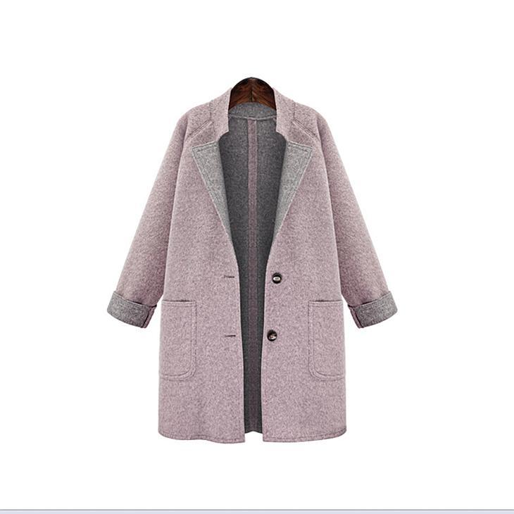 Manteau d'hiver femme laine manteau printemps et automne femmes Slim section courte laine mince laine Abrigos Mujer Elegante