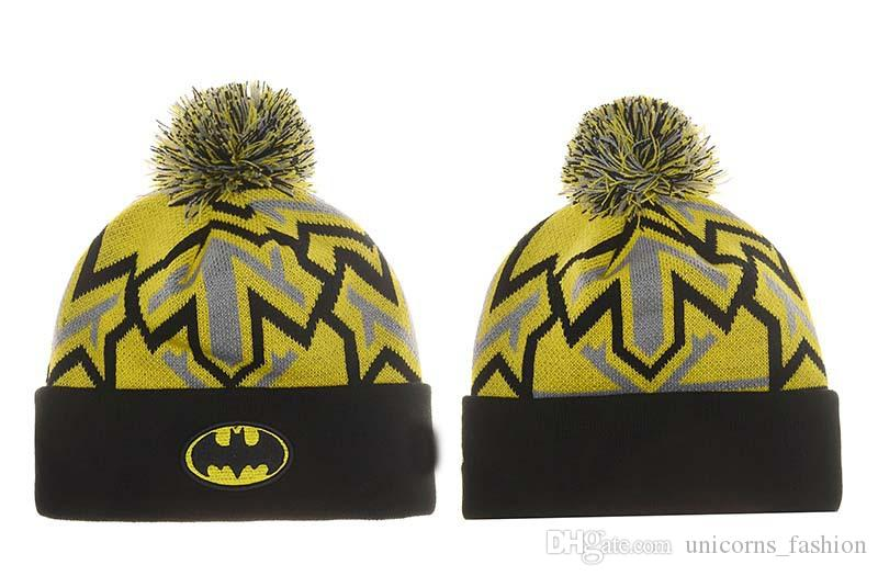 Batman Knit Hat beanies Casual Bonnet hat knitted hats for men and women Warm Unisex caps Skullies 10pcs CNY850