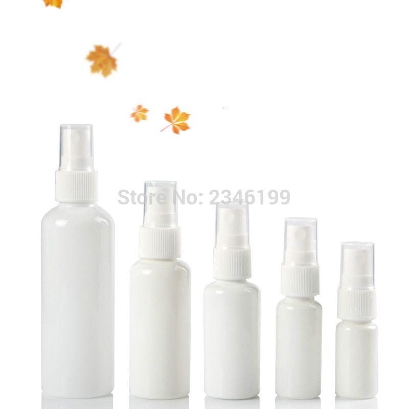 Beyaz Plastik Kozmetik Konteyner 100ml Plastik Şişe 10ml 100pcs Sprey boşaltın 50ml Pompa Şişe Sprey boşaltın 30ml Şişe 20ml Sprey