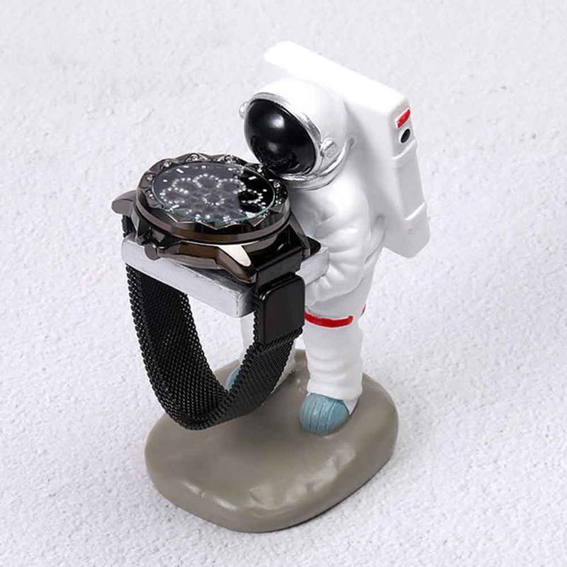 Astronauta Forma velha governanta Assista Display Stand Anel Tabela colares presente antigo Brincos Decoração Jóias Organizer
