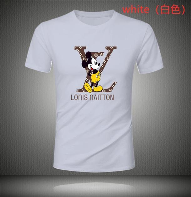 Breve Louis Vuitton Hip Hop felpate casuale stella luminosa manica corta T-shirt da uomo Womwn progettista del mens magliette