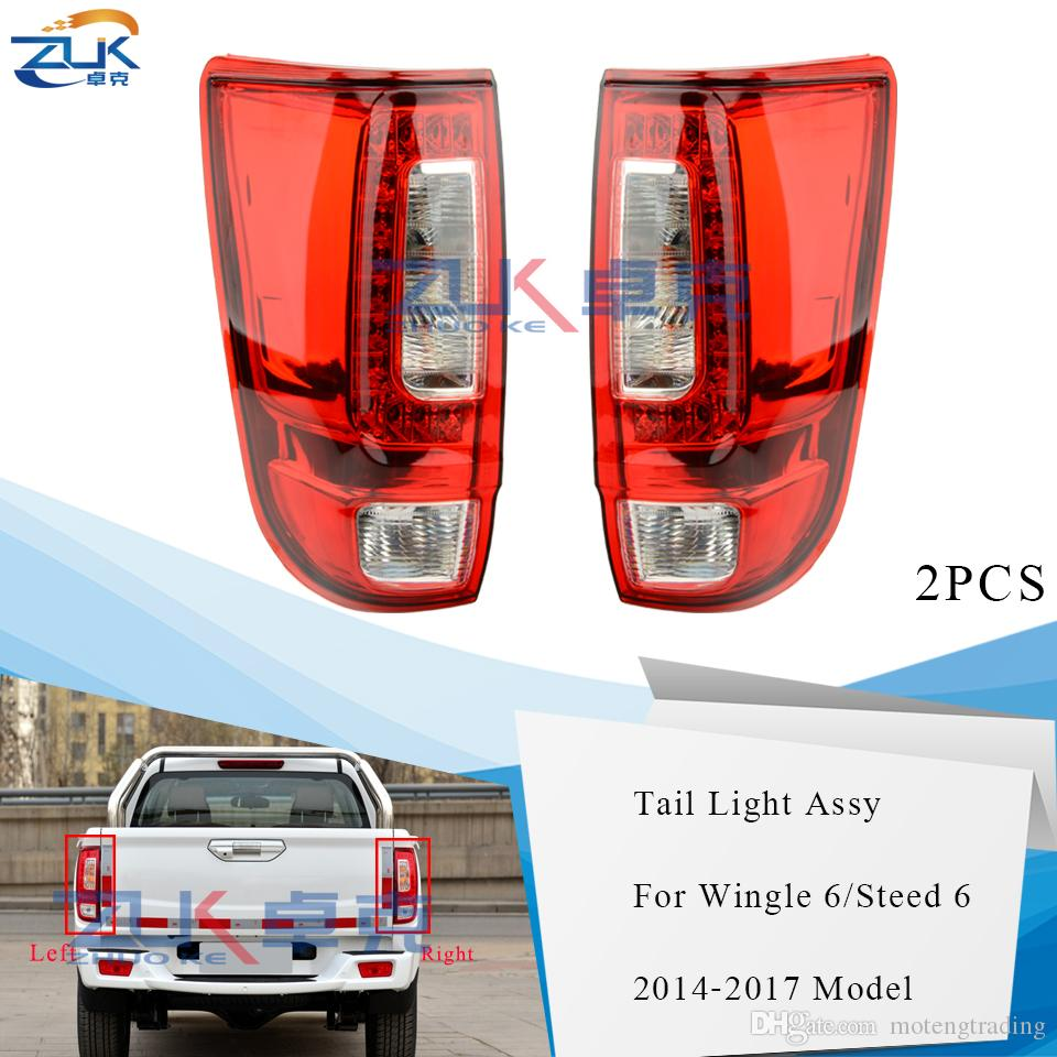 ZUK Pair Rear Bumper Tail Light Tail Lamp Taillight Taillamp For Great Wall Wingle 6 Steed 6 2014 2015 2016 2017 Brake Light