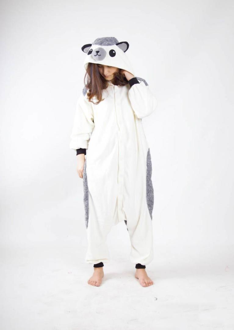 Costumi animali Pigiama Hedgehog Onesies Unisex Tutina adulti Pigiama Cosplay Tutina Sleepwear tuta per l'uomo le donne