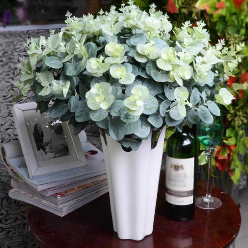 TPFOCUS 50 cm 16 teste Foglie artificiali Eucalipto Bouquet Rami di un albero Foglie Decorazioni per la casa Fai da te Disposizione dei fiori finta Pianta