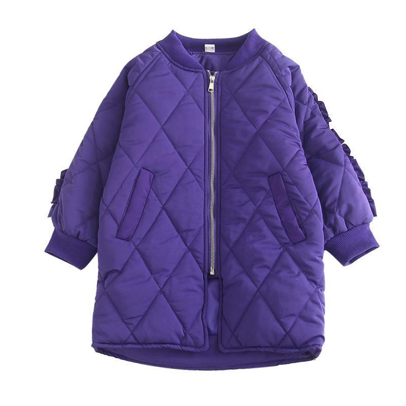 Menina da criança casaco de inverno meninas casacos camadas duplas engrossar casaco babados bonito manga casacos menina meninas outerwear casacos