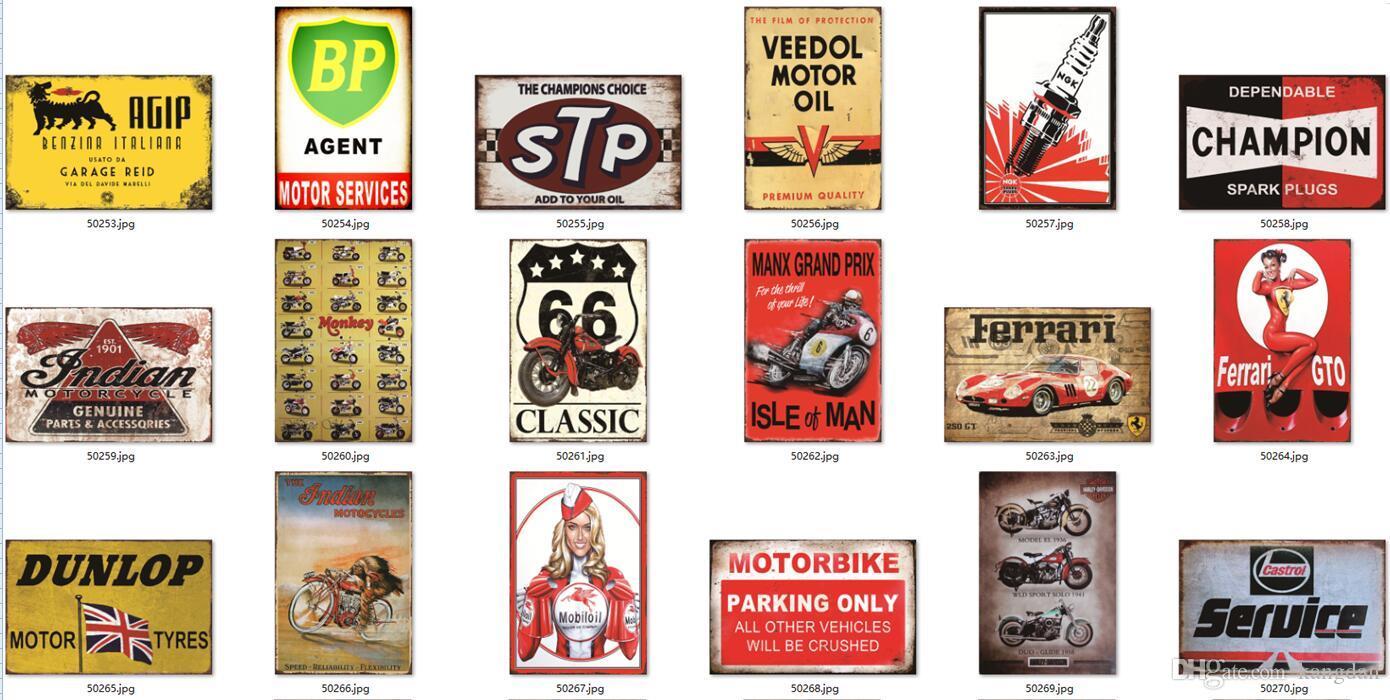 Metal lata sinais estacionamento de motocicleta sinais de aviso rota 66 shell bp metal pintura pintura retro pintura de metal cartaz serviço de carro de serviço de carro