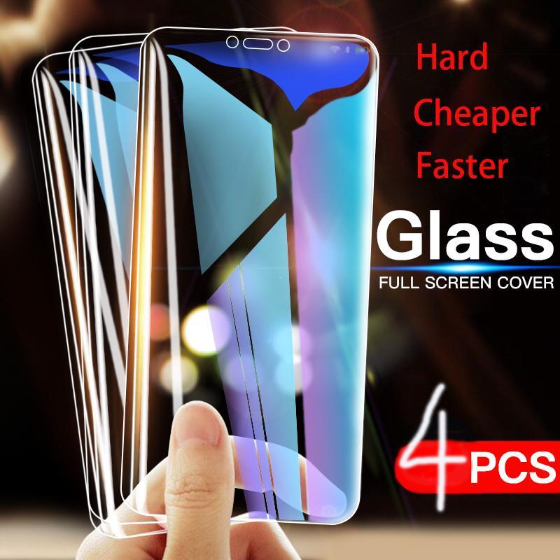 4pcs vidro de protecção para Samsung Galaxy J3 J5 J7 2016 2017 J4 J6 J8 Além disso 2,018 filme protetor de tela 9H 2.5D vidro temperado