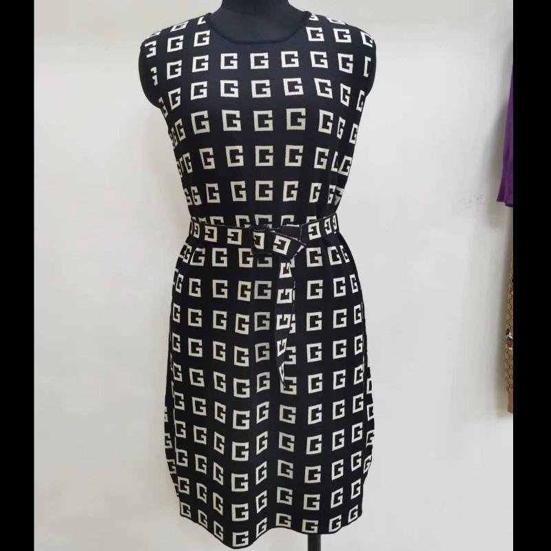 Femmes Jupes Femmes Designer jupe avec des ceintures Ladys Marque Lettre Imprimer Robe Nouveau Style De Mode Sans manches Jupe 2020 de Luxe Femmes Vêtements