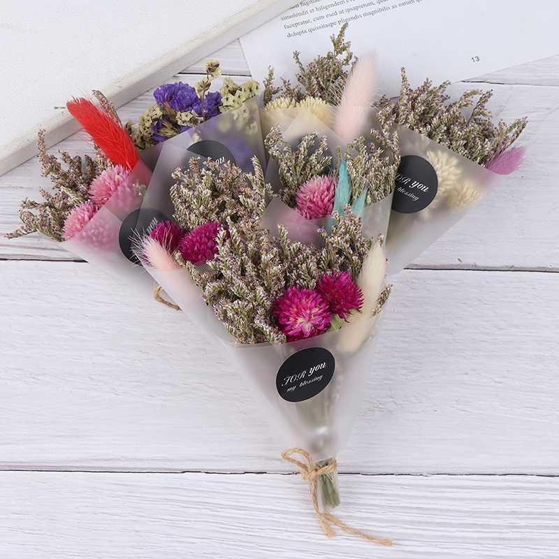 Flor seca artificial cristal de la hierba de San Valentín Para la decoración de regalos Mini ramo de flores secas de bricolaje niñas apoyo de la fotografía