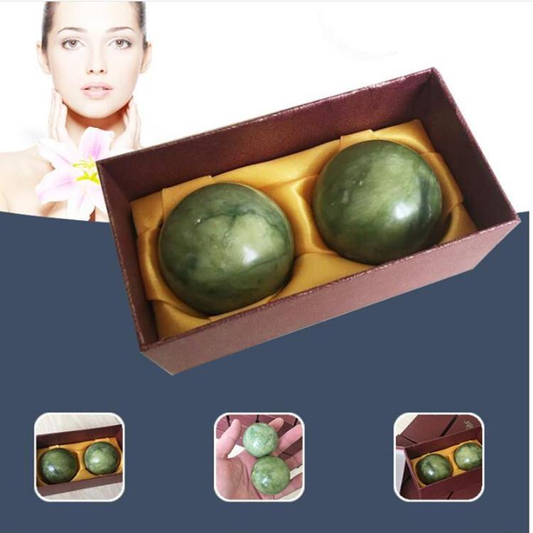 اليشم الأخضر الحجر الطبيعي تدليك الكرة 50MM ممارسة التأمل الإجهاد مربع الإغاثة RSI لكرة اليد للياقة البدنية الصالة الرياضية الكرة الرعاية الصحية هدية
