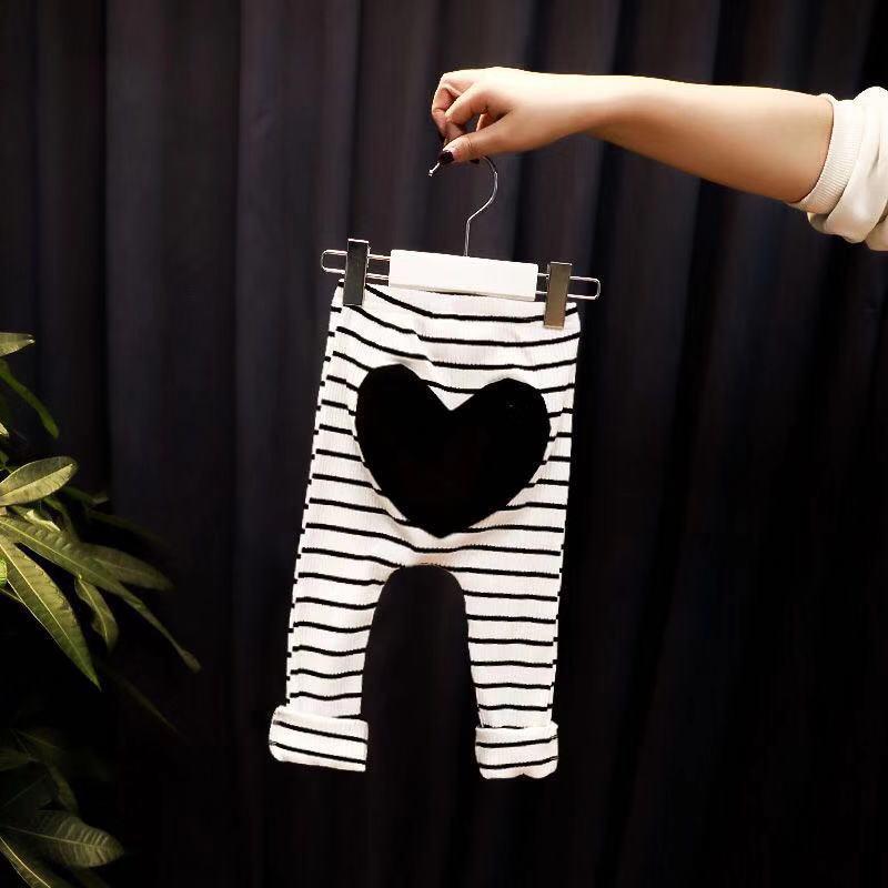 0-3T recém-nascido crianças Baby Girl Leggings de algodão listrado meninas calças cintura elástica calças compridas Leggings PP calças Bottoms