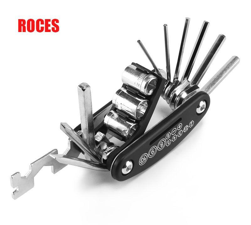 Reparación de la bicicleta multi de la función de la herramienta 13 en 1 bici de bolsillo plegable llave de la herramienta portátil de alta calidad del envío