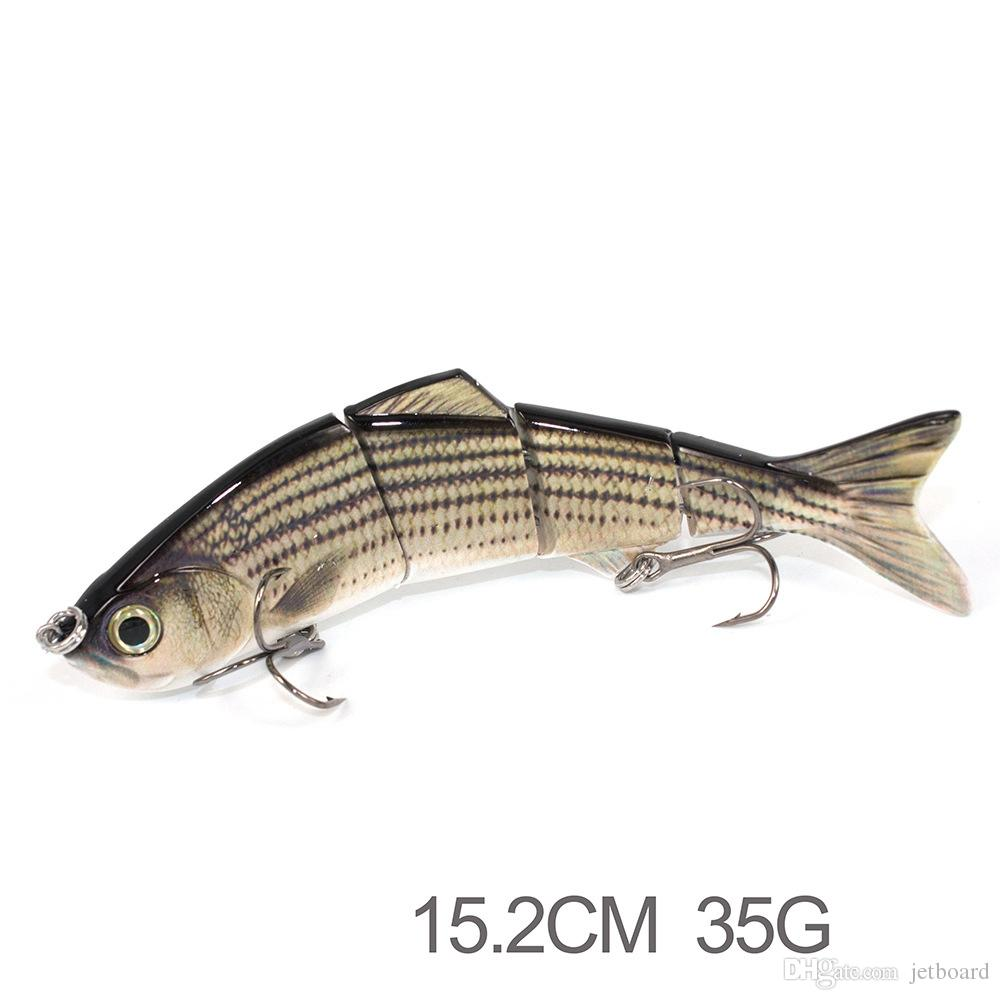 3 Segments multi jointed lures the producers fishing lures,New product 15.2 cm 35g making hard plastic fishing lures
