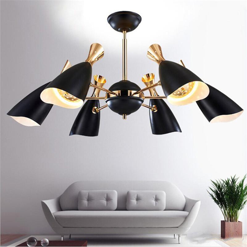 Plafoniere vintage Nordic Lampada a sospensione a LED Post moderno ed elegante foyer creativo soggiorno sala da pranzo lampada a sospensione apparecchi di illuminazione domestica