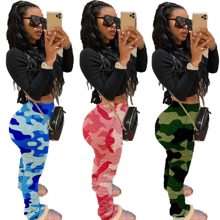 Женщины плюс размер брюки камуфляж печати брюки мода летняя одежда эластичный пояс bodycon брюки горячие продажи Make It Up free shipp S-3XL 2913
