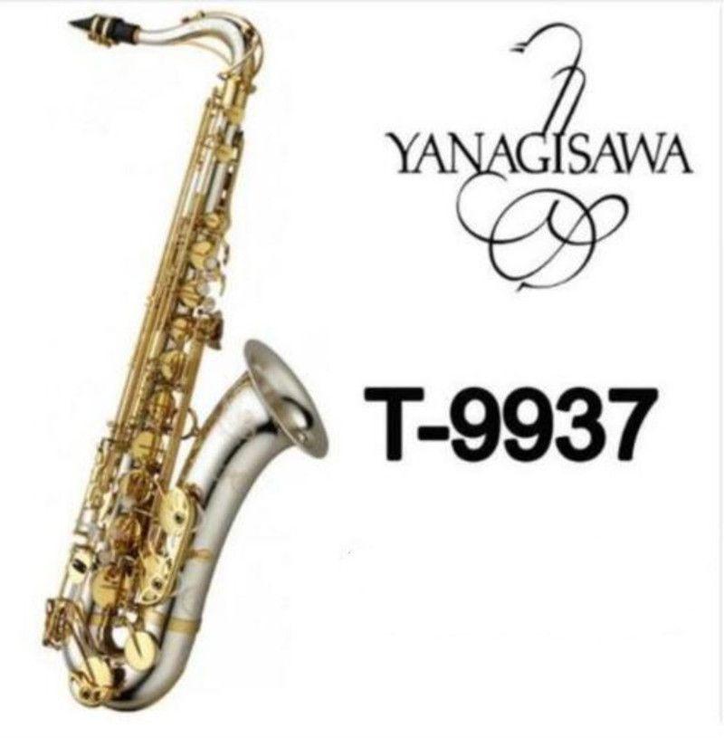 T-9937 strumenti musicali Bb nuovo tono originale Yanagisawa Sassofono tenore argento nichelato tubo Gold Key Sax con il caso