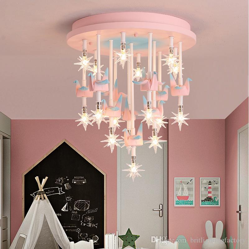 Yaratıcı çocuk Odası Tavan Lambası Erkek Kız Yatak Odası Tavan Işıkları Anaokulu Kreş Dekorasyon Tavan Işık Nordic Basit led Lambalar
