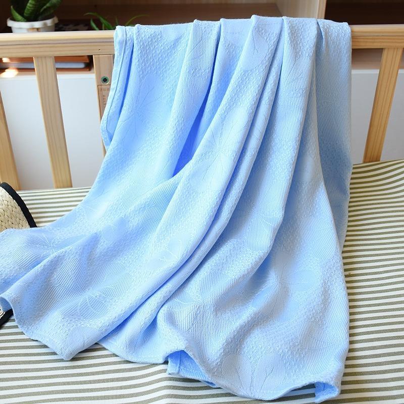 Copertura della coperta jacquard in fibra di bambù estate del ghiaccio di seta per bambini per adulti Aria condizionata Nap colori solidi Coperte Cosy lenzuolo