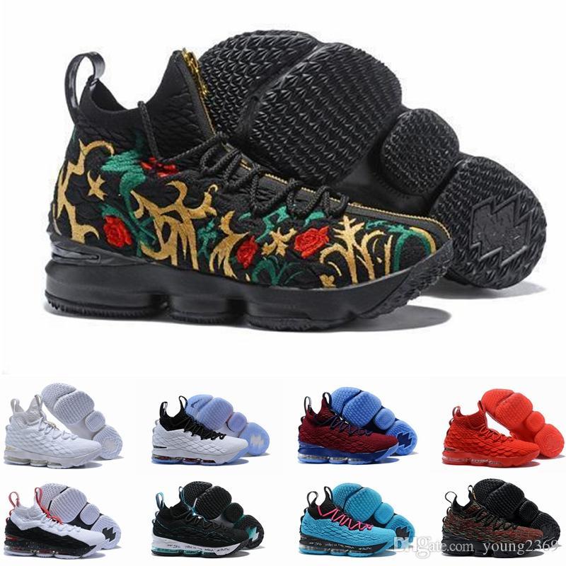 Yüksek Kaliteli Lebron 15 Performans Kith Külleri Hayalet Erkek Basketbol Ayakkabıları Varış Sneakers 15 s James spor Tasarımcısı Sneakers LBJ Boyutu 12