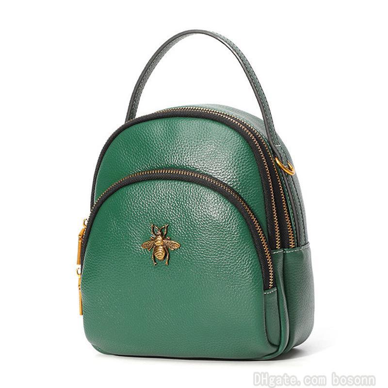 Кожаный Daypack Girls Mini Counle Bearine 3 плеча дизайнерские сумки рюкзак женские легкие телефонные сумки сумки Way Carry UQSCI