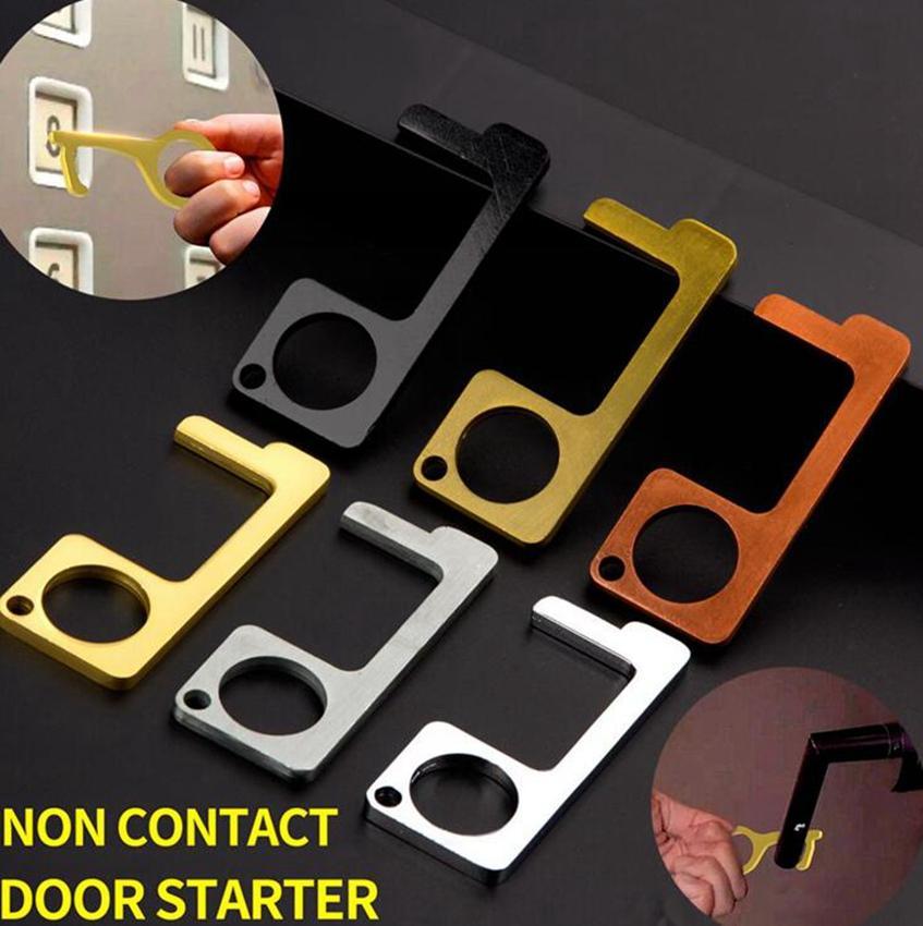 Porta mais próxima chave Non-Contact Door Opener Anel Ferramenta Porta E Elevador Botão Anti-contact I fácil de limpar EDC Keychain KKA7806