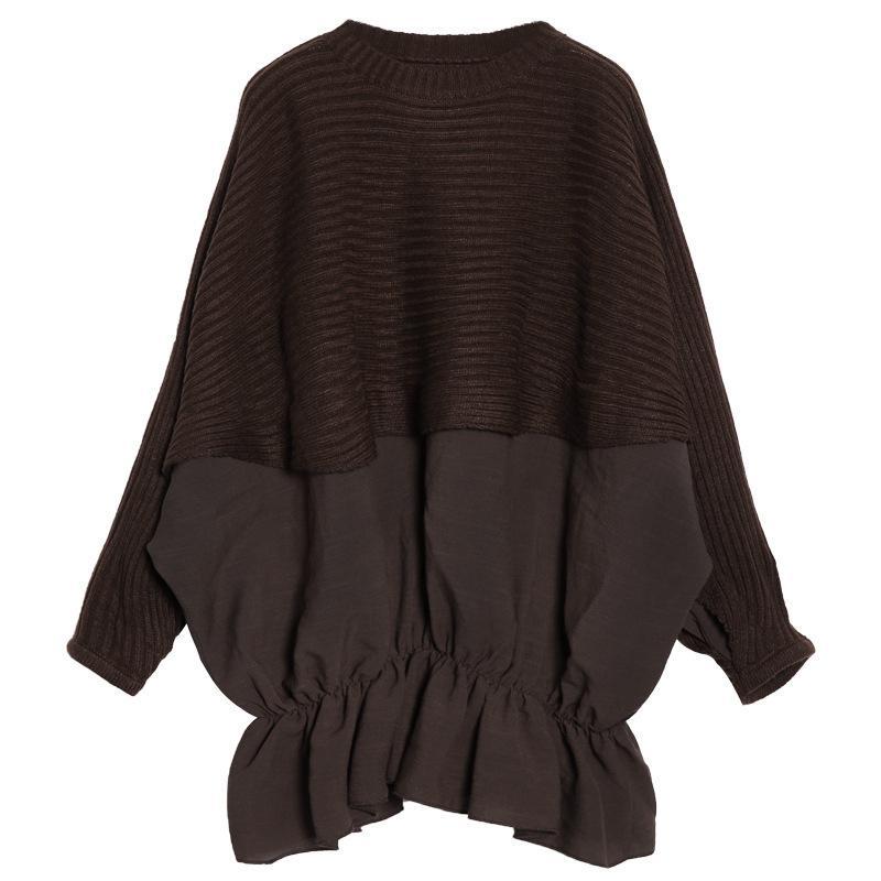 Женские свитеры Mevgo 2021 осенью женщин с длинным рукавом свитер пэткер плиссированные рюшами свободный зимний пуловер плюс размер ha944