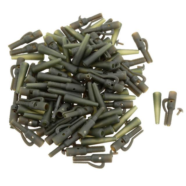 Boxes 50Pcs/Sets Fishing Terminal Tackle Safety Lead Clips with Pins Tail Rubber Tubes Carp Fishing Tackle Tools