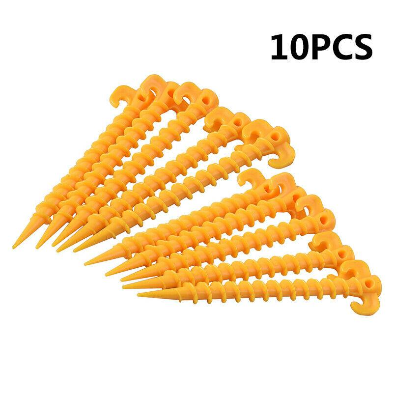 Plastic Tent pegs Firm Outdoor Hiking Nails Awning Elements Picnic Stakes