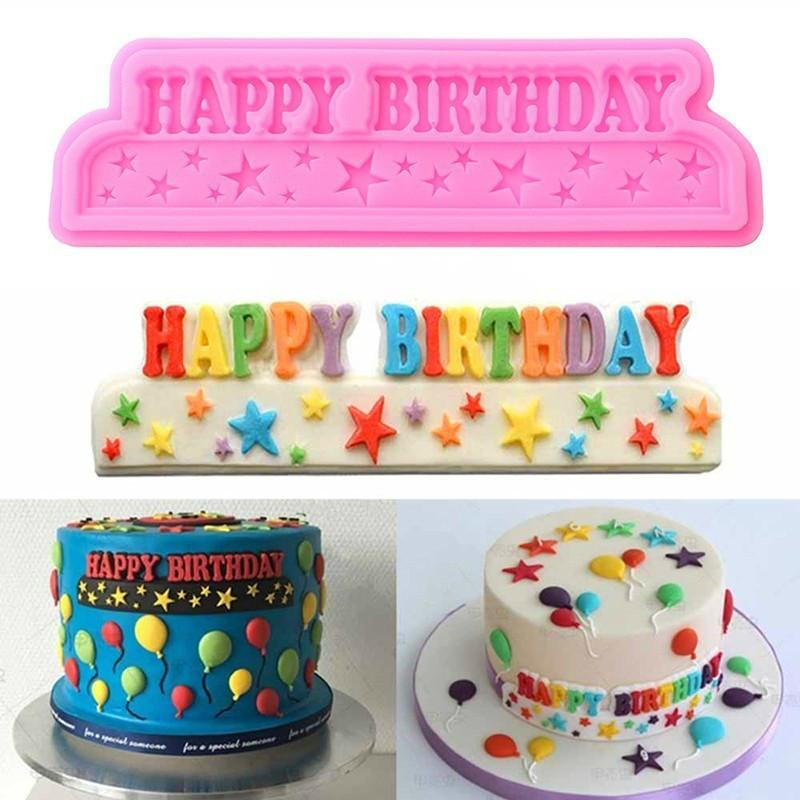 Surprising 2020 Silicone 3D Happy Birthday Letters Numers Mold For Ice Jelly Birthday Cards Printable Riciscafe Filternl