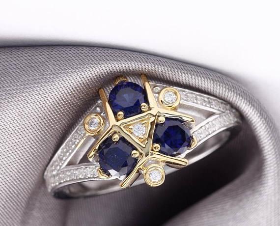 Moda Romantico 925 Standard Argento Blu Diamante Femminile Anello creativo Fidanzamento Sposa Sposa Principessa Anello Love Size 6-10