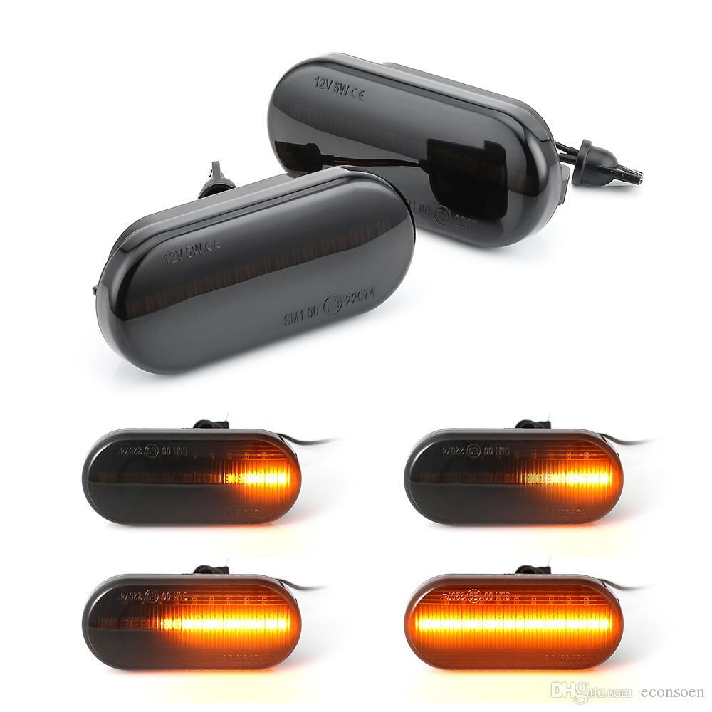 Led Dinamik Side Marker Dönüş Sinyali Işık Sıralı Flaşör Işık Volkswagen VW Bora Golf Için 3 4 Passat 3BG Polo SB6