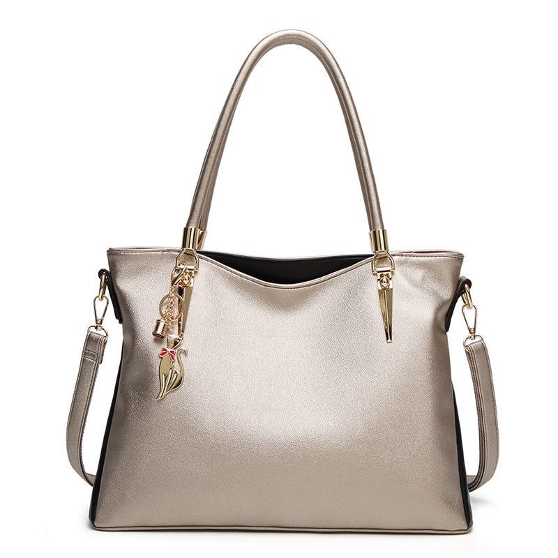 qulity Designer sacs à main des femmes de dames de mode sacs fourre-tout d'épaule d'embrayage en cuir PU sac femme sacs à provisions 4 COULEURS A6112