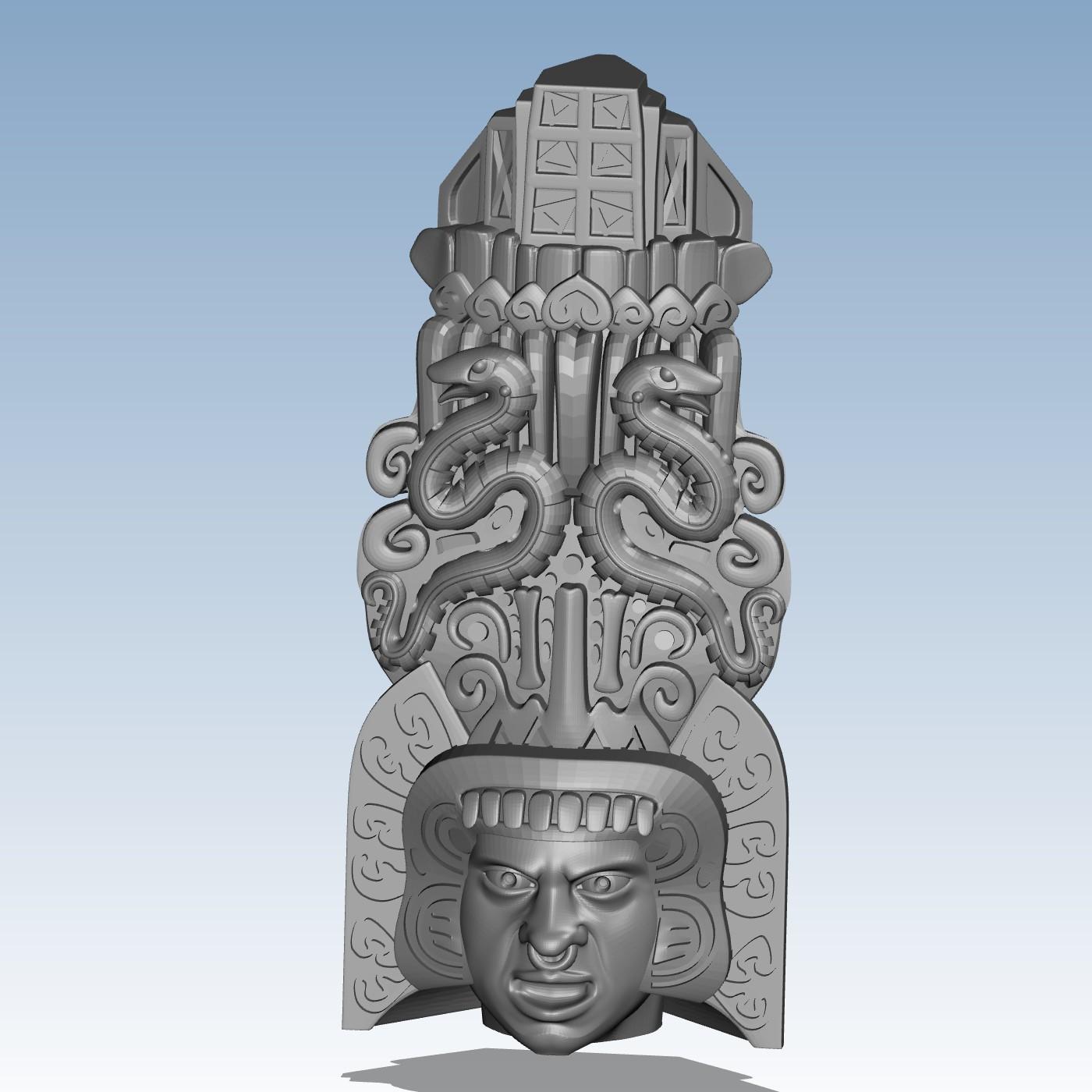 Snake Тотем Индивидуальный заказ высокой точности высокого качества цифровых моделей 3D печать сервис воображаемые объекты Фэнтези ST4511