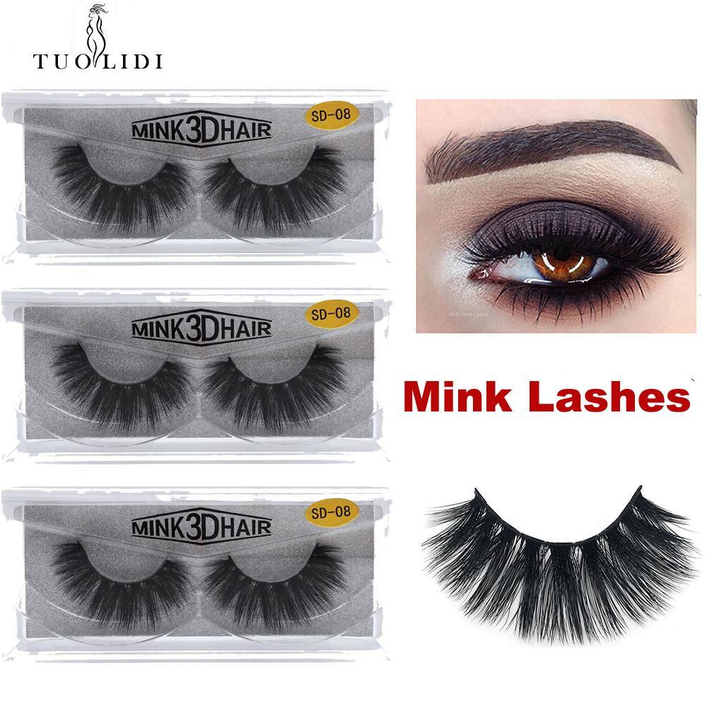 1 paire / lot cils vison naturel maquillage long faux cils 3d vison cils bande complète cils 1 paire cils 1cm-1.5cm