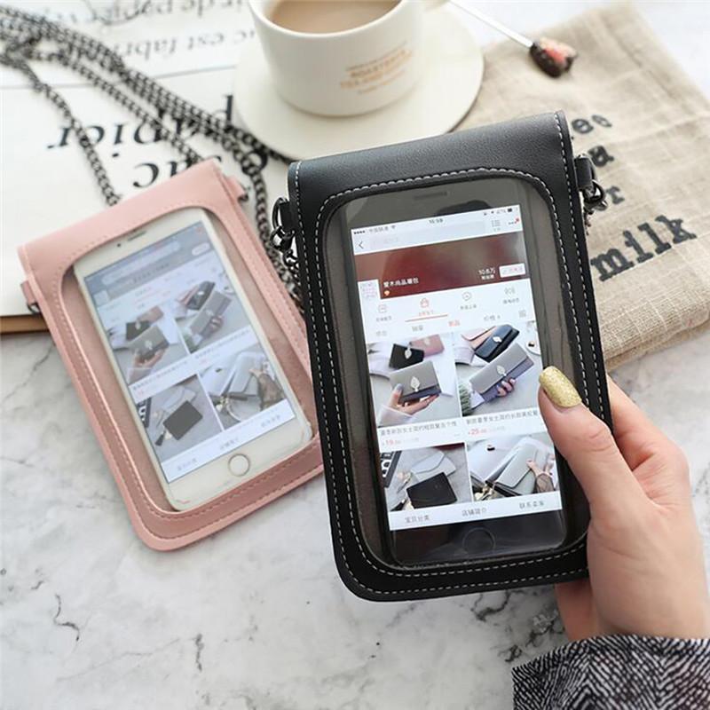 Женская Декоративные Прозрачный Простой сенсорный экран ретро мобильный телефон сумка 2020 новый студент мобильный телефон Packet