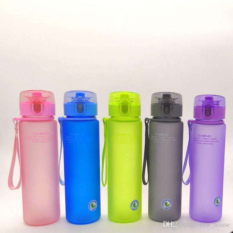 الرياضة زجاجة ماء البلاستيك بلوري زجاجات الشرب مانعة للتسرب زجاجة ماء المحمولة التخييم المشي زجاجة ماء 14 أوقية و 20 أوقية