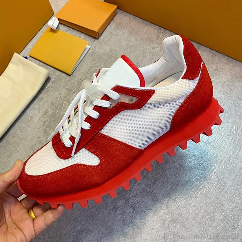 2019 Scarpe Uomo Moda traspirante Chaussures pattini casuali di cuoio pour hommes Runner Sneaker LU568 uomini scarpe di lusso casual con la scatola Origin