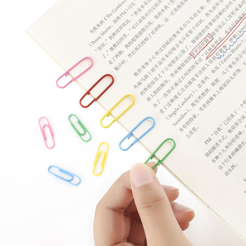160pc coloful estilo del escrito en forma de papel del clip del metal Marca escuela con suministros de librería de papelería Escolar Papelaria